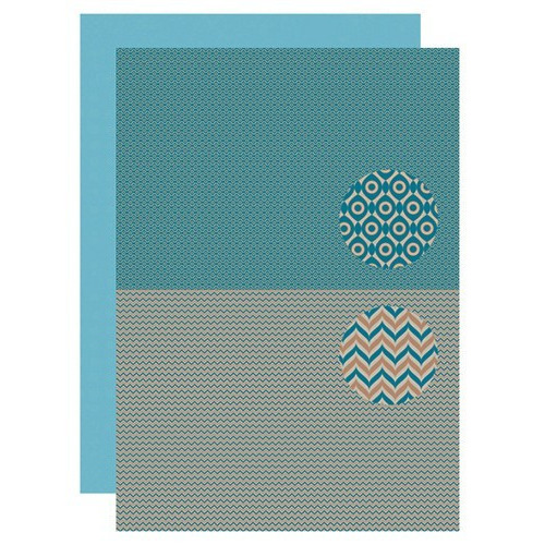 Background sheet Men-things serie zigzag