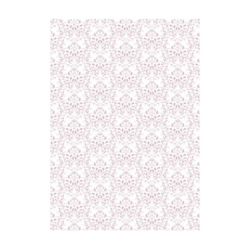 RBC123 Basic Collection A4 200gr Vintage pink damask