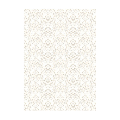 RBC128 Basic Collection A4 200gr Vintage Beige Damask