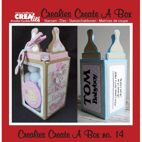 Crealies Create A Box no. 14 Zuigfles 61x141-53x53mm / CCAB14 (03-17)