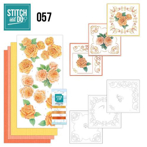Stitch and Do 57 - Oranje rozen
