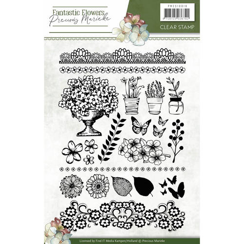 Clearstamp - Precious Marieke - Fantastic Flowers - Tekst