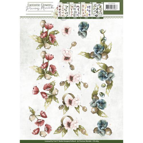 3D Knipvel - Precious Marieke - Fantastic Flowers - Poppy