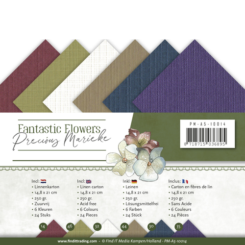 Linnenpakket - A5 - Precious Marieke - Fantastic Flowers