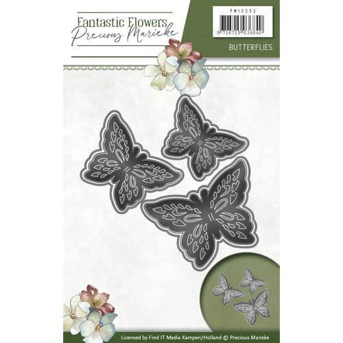 Die - Precious Marieke - Fantastic Flowers - Butterflies