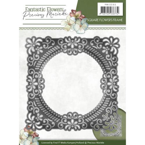 Die - Precious Marieke - Fantastic Flowers - Square Flowers frame