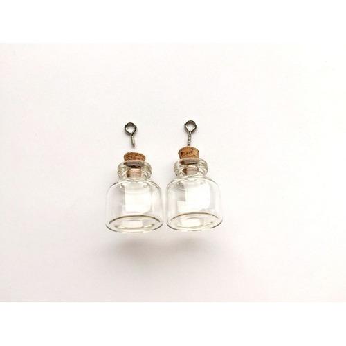 Mini glazen flesjes met kurk & schroef 2 ST 12423-2303 22x25mm