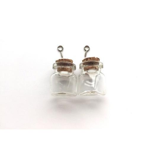 Mini glazen flesjes met kurk & schroef triangle 2 ST 12423-2306 22x25mm