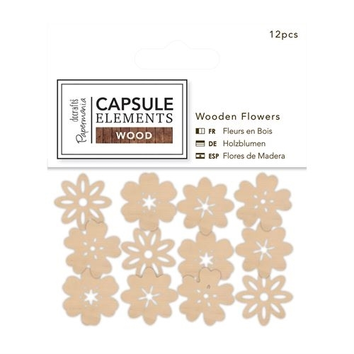 Wooden Flowers (16pcs) - Elements Wood