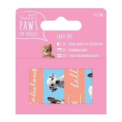 5m Craft Tape (4pcs) - Paws for Thought