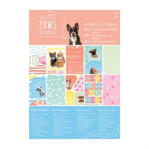 A5 Ultimate Die-cut & Paper Pack (48pk) - Paws for Thought