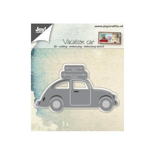 Snij-embos-debosstencil 3D- Auto VW met koffers