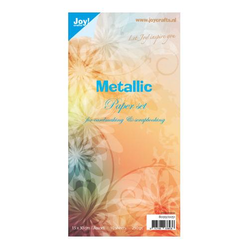 Papierset Metallic assorti
