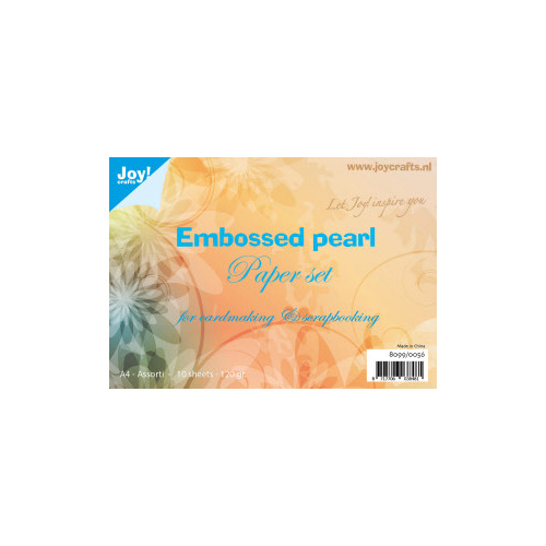 Papierset Embossed parelmoer