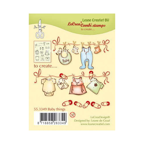 Combi clear stamp Baby Things