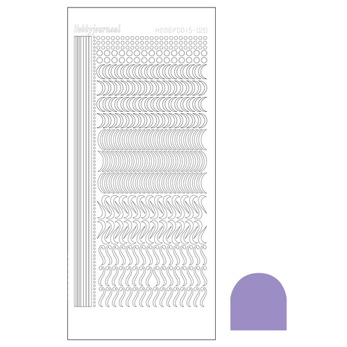 Hobbydots sticker - Mirror Violet