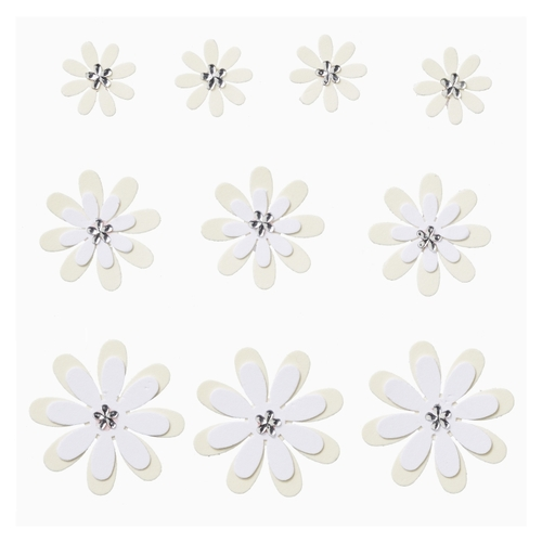 FLORELLA Papierbloemen Design I, crème-wit, zelfklevend, buidel met 10 st