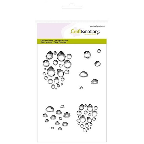 CraftEmotions clearstamps A6 - waterdruppels