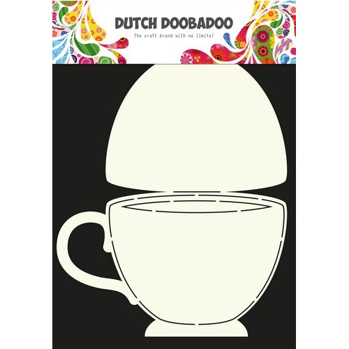 Dutch Doobadoo Dutch Card Art Stencil theekopje A4 470.713.622 (04-17)