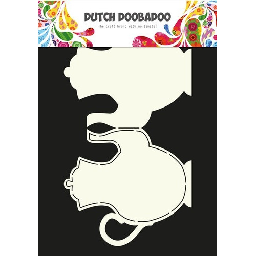 Dutch Doobadoo Dutch Card Art Stencil theepot A4 470.713.624 (04-17)