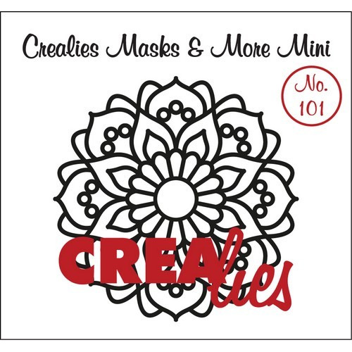Crealies Masks & More Mini no. 101 Mandala A 105mm / CLMMM101 (04-17)