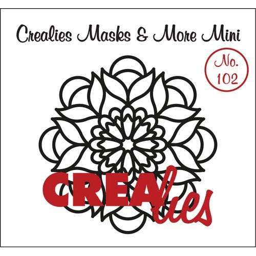 Crealies Masks & More Mini no. 102 Mandala B 105mm / CLMMM102 (04-17)