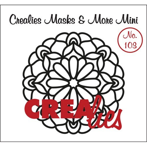 Crealies Masks & More Mini no. 103 Mandala C 105mm / CLMMM103 (04-17)