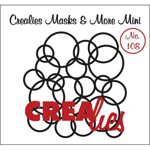 Crealies Masks & More Mini no. 108 In elkaar grijpende cirkels 104x107mm / CLMMM108 (04-17)