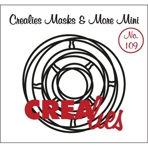 Crealies Masks & More Mini no. 109 Verstrengelde cirkels 100x105mm / CLMMM109 (04-17)