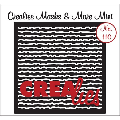 Crealies Masks & More Mini no. 110 Krabbel lijnen 105x105mm / CLMMM110 (04-17)