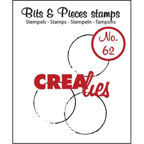 Crealies Clearstamp Bits&Pieces no. 62 grote cirkels 20x20-25x34mm / CLBP62 (04-17)