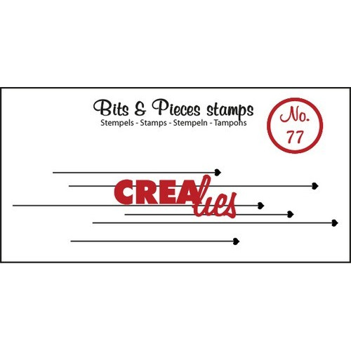 Crealies Clearstamp Bits&Pieces no. 77 22x93mm / CLBP77 (04-17)