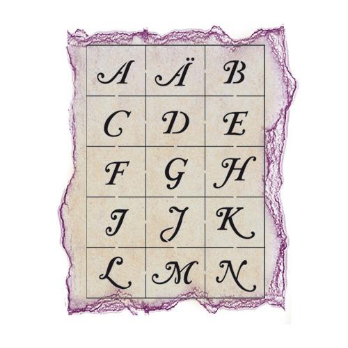 Alphabet groot met grote cijfers