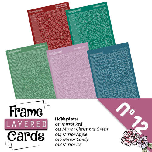 Stickerset Layered frame cards 12