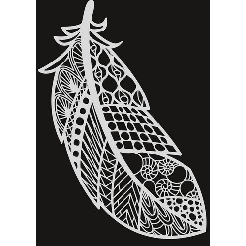 Pronty Mask stencil - Veer zentangle 470.803.033   A4 (03-17)