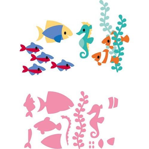 Marianne D Collectable Eline`s tropische vissen COL1431  14,5x20,5 cm (05-17)