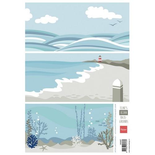 Marianne D 3D Knipvellen Eline`s background ocean AK0067 A4 (05-17)