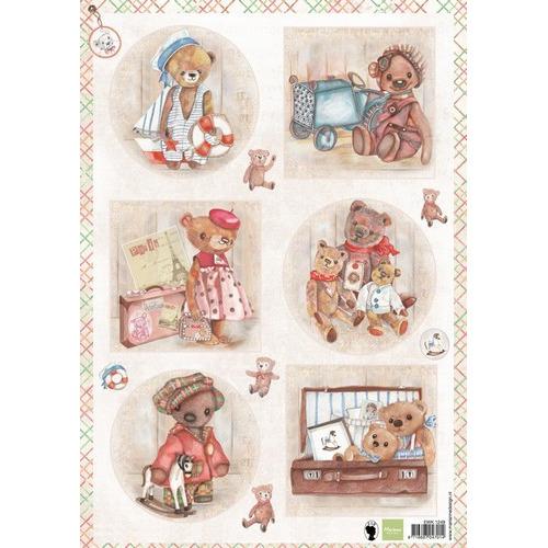 Marianne D 3D Knipvellen Teddy beren 1 EWK1249 A4 (05-17)