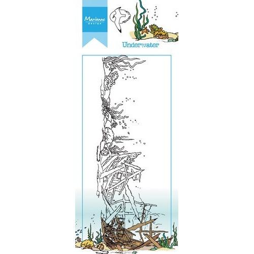 Marianne D Stempel Hetty`s border onderwater HT1620 7,5x18,5cm (05-17)