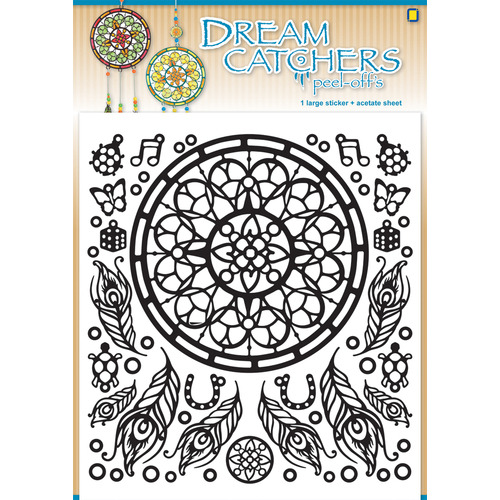 Dream catchers Peel-offs X-mas Red