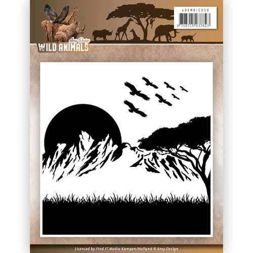 Embossing Folder - Amy Design - Wild Animals
