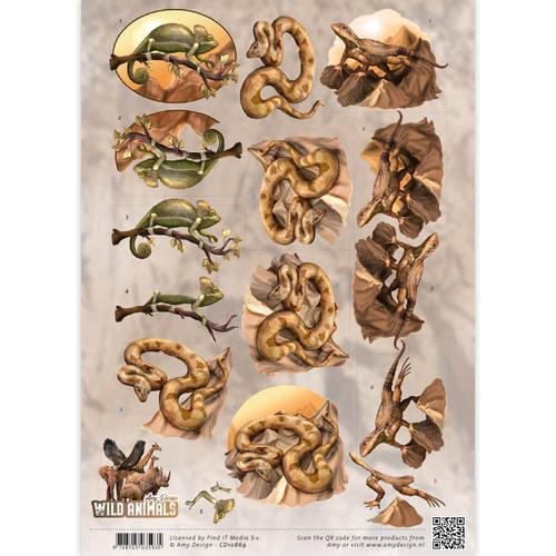 3D Knipvel - Amy Design - Wild Animals - Reptiles