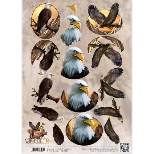 3D Knipvel - Amy Design - Wild Animals - Eagles