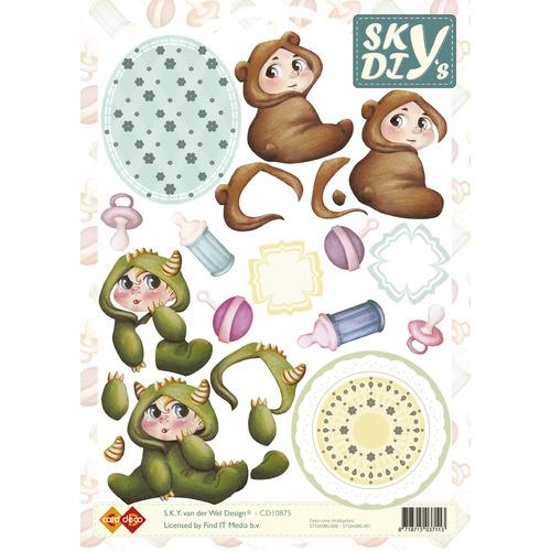 3D Knipvel - Sky - Baby-beestenpakken