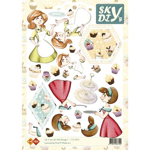 3D Knipvel - Sky - Cupcake Dames