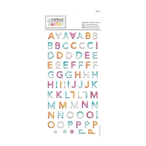 Alphabet Thicker Stickers  (169pcs) - Capsule Collection -  Elements P