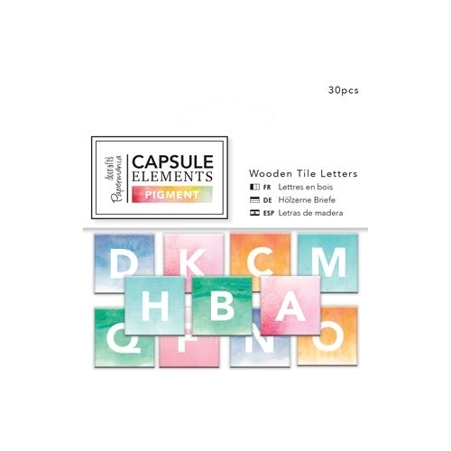 Wooden Tile Letters (30pcs) - Capsule Collection - Elements Pigment