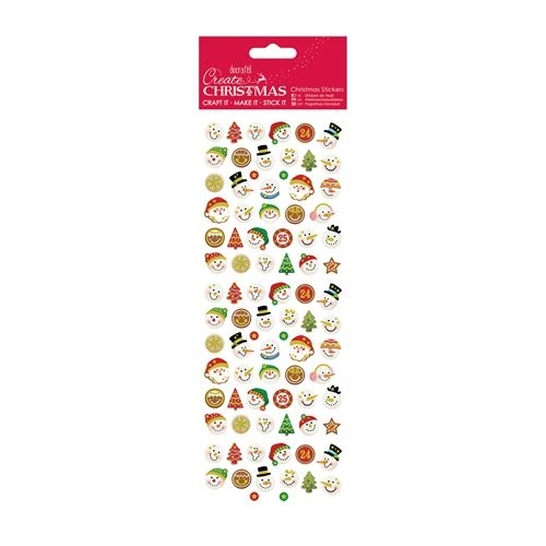 Christmas Stickers - Snowman Faces