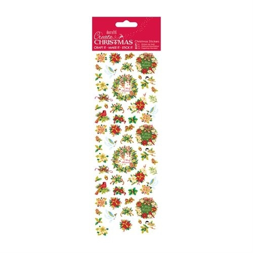 Christmas Stickers - Wreath Sentiment