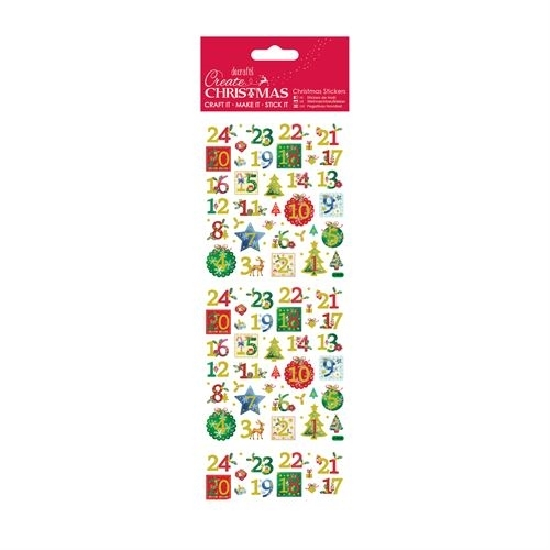 Christmas Stickers - Holly Advent Numbers